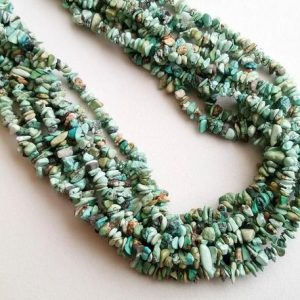 Shop Turquoise Chip & Nugget Beads! 3-8mm Turquoise Chips Beads, Natural Turquoise Gemstone Chips, Chip Beads, Turquoise For Necklace, 32 Inch (1Strand To 5Strand Options) | Natural genuine chip Turquoise beads for beading and jewelry making.  #jewelry #beads #beadedjewelry #diyjewelry #jewelrymaking #beadstore #beading #affiliate #ad