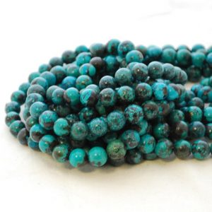 """Shop Turquoise Round Beads! High Quality Grade A Natural Turquoise Semi-precious Gemstone Round Beads – approx 8mm – 9mm – Approx 15.5"""" strand 