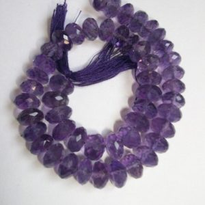 Shop Amethyst Rondelle Beads! 10 Pieces 8mm Amethyst Rondelle Beads Micro Faceted Beads, Beautiful Gorgeous Purple Color Gems, Amethyst Beads Rondelle Faceted Gemstone | Natural genuine rondelle Amethyst beads for beading and jewelry making.  #jewelry #beads #beadedjewelry #diyjewelry #jewelrymaking #beadstore #beading #affiliate #ad