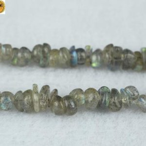 "Shop Labradorite Chip & Nugget Beads! Labradorite chips beads,Blue Labradorite,Natural,Gemstone,DIY Beads,Grade A,5-8mm,35"" full strand 
