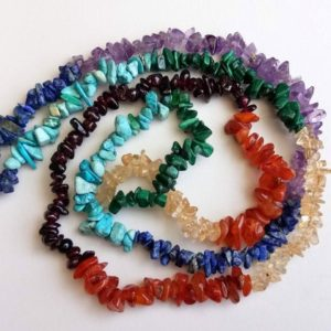 Shop Chakra Beads! 5-7mm Seven Chakra Chips, Natural Healing Seven Multi Chakra Bead, Body Chakra Chip Necklace, Multi Gem Chips (1 Strand To 10 Strand Option) | Shop jewelry making and beading supplies, tools & findings for DIY jewelry making and crafts. #jewelrymaking #diyjewelry #jewelrycrafts #jewelrysupplies #beading #affiliate #ad