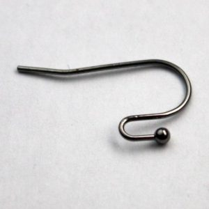 Shop Ear Wires & Posts for Making Earrings! 50(25pr) Ball End Earring Ear Wire – Gunmetal Plated on Solid Brass Ear Wires, French hook style, ball end – ERBall | Shop jewelry making and beading supplies, tools & findings for DIY jewelry making and crafts. #jewelrymaking #diyjewelry #jewelrycrafts #jewelrysupplies #beading #affiliate #ad
