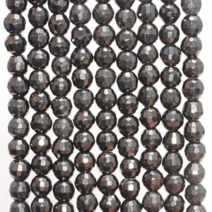 Shop Jet Beads! 6MM Organic Black Jet Gemstones, Black, Faceted Round 6MM Loose Beads 16 inch Full Strand (90113029-127) | Natural genuine round Jet beads for beading and jewelry making.  #jewelry #beads #beadedjewelry #diyjewelry #jewelrymaking #beadstore #beading #affiliate #ad