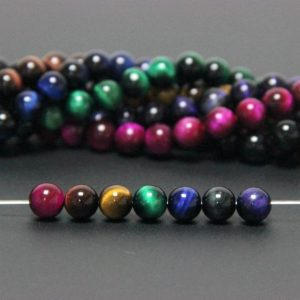 Shop Chakra Beads! 7 Chakra Beads Rainbow Tiger Eye Beads 8mm, Set Chakra Beads, 7 Chakra Gemstone Mala Beads, Chakra Healing Beads, Natural Tiger Eye Beads | Shop jewelry making and beading supplies, tools & findings for DIY jewelry making and crafts. #jewelrymaking #diyjewelry #jewelrycrafts #jewelrysupplies #beading #affiliate #ad