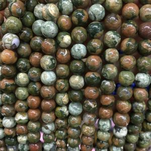 Shop Rainforest Jasper Beads! 8 mm 10mm Rainforest Jasper Smooth Round Beads ,Green Beads, Wholesale Beads , Full Strand | Natural genuine round Rainforest Jasper beads for beading and jewelry making.  #jewelry #beads #beadedjewelry #diyjewelry #jewelrymaking #beadstore #beading #affiliate #ad