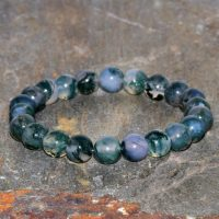 8mm Natural Moss Agate Stacking Bracelet, Aa Grade Beads, Yoga Gifts, Opening The Heart Chakra-abundance & Prosperity-connection With Nature | Natural genuine Gemstone jewelry. Buy crystal jewelry, handmade handcrafted artisan jewelry for women.  Unique handmade gift ideas. #jewelry #beadedjewelry #beadedjewelry #gift #shopping #handmadejewelry #fashion #style #product #jewelry #affiliate #ad