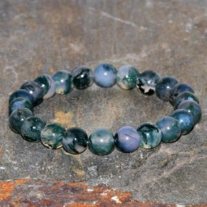 Shop Moss Agate Jewelry! 8mm Natural Moss Agate Stacking Bracelet, AA Grade Beads, Yoga Gifts, Opening the Heart Chakra-Abundance & Prosperity-Connection with Nature | Natural genuine Agate jewelry. Buy crystal jewelry, handmade handcrafted artisan jewelry for women.  Unique handmade gift ideas. #jewelry #beadedjewelry #beadedjewelry #gift #shopping #handmadejewelry #fashion #style #product #jewelry #affiliate #ad