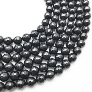 Shop Black Agate Beads! 10mm Faceted Black Onyx Beads, Black Agate Beads, Round Gemstone Beads, Wholesale Beads | Natural genuine beads Agate beads for beading and jewelry making.  #jewelry #beads #beadedjewelry #diyjewelry #jewelrymaking #beadstore #beading #affiliate #ad