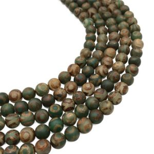 Shop Agate Bead Shapes! 8mm Matte Tibetan Agate Beads, Gemstone Beads, Wholesale Beads | Natural genuine other-shape Agate beads for beading and jewelry making.  #jewelry #beads #beadedjewelry #diyjewelry #jewelrymaking #beadstore #beading #affiliate #ad