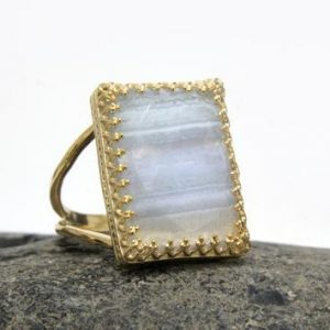 Shop Agate Rings! gold agate ring,lace agate stack ring,double band ring,gold rings,14k solid gold ring,rectangle ring,gemstone ring,g | Natural genuine Agate rings, simple unique handcrafted gemstone rings. #rings #jewelry #shopping #gift #handmade #fashion #style #affiliate #ad