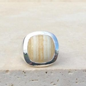 Shop Men's Gemstone Rings! Mens Silver Gemstone Ring, Mens Silver Jewellery, Large Agate Ring, Honey Gemstone Silver Ring, Christmas Gift for Dad, Husband Gift Idea | Natural genuine Agate mens fashion rings, simple unique handcrafted gemstone men's rings, gifts for men. Anillos hombre. #rings #jewelry #crystaljewelry #gemstonejewelry #handmadejewelry #affiliate #ad