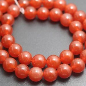 Shop Agate Round Beads! 4mm/6mm/8mm/10mm/12mm Natural Red Agate Beads,Natural Smooth and Round  Beads,15 inches one starand | Natural genuine round Agate beads for beading and jewelry making.  #jewelry #beads #beadedjewelry #diyjewelry #jewelrymaking #beadstore #beading #affiliate #ad