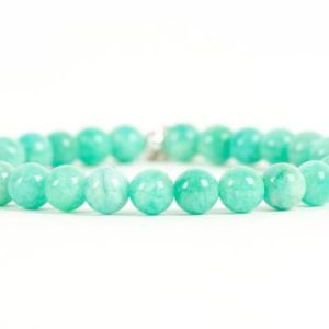 Shop Amazonite Bracelets! Peruvian Amazonite Bracelet, Amazonite Gemstone Bracelet, Handmade Gemstone Jewelry, Unique-gift-for-wife | Natural genuine Amazonite bracelets. Buy crystal jewelry, handmade handcrafted artisan jewelry for women.  Unique handmade gift ideas. #jewelry #beadedbracelets #beadedjewelry #gift #shopping #handmadejewelry #fashion #style #product #bracelets #affiliate #ad