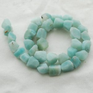 "Shop Amazonite Chip & Nugget Beads! Raw Natural Amazonite Semi-precious Gemstone Chunky Nugget Beads – Approx 8mm – 10mm X 10mm – 12mm – Approx 15"" Long Strand 