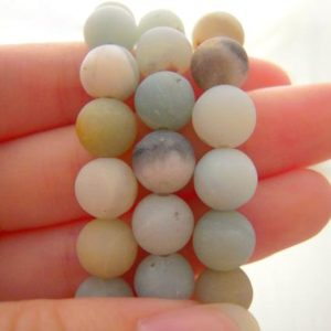 Amazonite, Matte Amazonite, Amazonite Beads, Natural Gemstones, 8mm Beads, 8mm Amazonite Beads, Multicolor Beads, Beautiful Beads, Gemstones | Natural genuine other-shape Amazonite beads for beading and jewelry making.  #jewelry #beads #beadedjewelry #diyjewelry #jewelrymaking #beadstore #beading #affiliate #ad