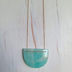 Shop Amazonite Pendants! Amazonite Necklace Amazonite Jewelry Amazonite Pendant Necklace Gemstone Geometric Jewelry Gemstone Necklace | Natural genuine Amazonite pendants. Buy crystal jewelry, handmade handcrafted artisan jewelry for women.  Unique handmade gift ideas. #jewelry #beadedpendants #beadedjewelry #gift #shopping #handmadejewelry #fashion #style #product #pendants #affiliate #ad