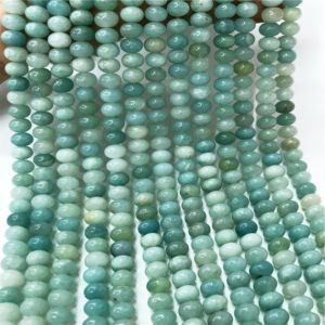 Shop Amazonite Rondelle Beads! 8x5mm Amazonite Rondelle Beads, Rondelle Stone Beads, Gemstone Beads | Natural genuine rondelle Amazonite beads for beading and jewelry making.  #jewelry #beads #beadedjewelry #diyjewelry #jewelrymaking #beadstore #beading #affiliate #ad