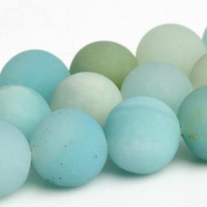 Shop Amazonite Round Beads! Matte Blue Amazonite Beads Grade A Genuine Natural Gemstone Round Loose Beads 6MM 8MM 10MM Bulk Lot Options | Natural genuine round Amazonite beads for beading and jewelry making.  #jewelry #beads #beadedjewelry #diyjewelry #jewelrymaking #beadstore #beading #affiliate #ad