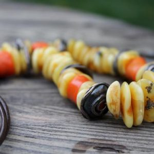 Pale Coral Amber Necklace Natural Orange Earty Colors Statement Extra Large | Natural genuine Gemstone necklaces. Buy crystal jewelry, handmade handcrafted artisan jewelry for women.  Unique handmade gift ideas. #jewelry #beadednecklaces #beadedjewelry #gift #shopping #handmadejewelry #fashion #style #product #necklaces #affiliate #ad