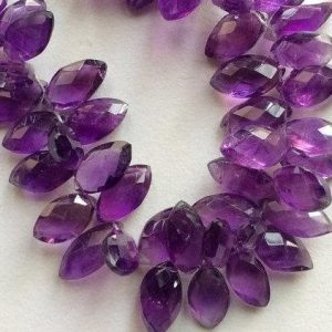 Shop Amethyst Bead Shapes! Purple Amethyst, Amethyst  Marquise Shape Bead – Faceted Briolettes – 12mm – 16mm  – 4 Inches Strand, 2 | Natural genuine other-shape Amethyst beads for beading and jewelry making.  #jewelry #beads #beadedjewelry #diyjewelry #jewelrymaking #beadstore #beading #affiliate #ad