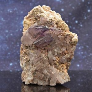 """Brandberg Frosted Phantom Quartz Cluster with Matrix from Namibia 