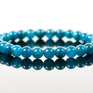 Shop Apatite Bracelets! Apatite Bracelet, Translucent Natural Blue Apatite Gemstone, Chakra Bracelet, Gemstone Bracelet, Handmade Jewelry, Gemstone Jewelry | Natural genuine Apatite bracelets. Buy crystal jewelry, handmade handcrafted artisan jewelry for women.  Unique handmade gift ideas. #jewelry #beadedbracelets #beadedjewelry #gift #shopping #handmadejewelry #fashion #style #product #bracelets #affiliate #ad