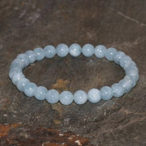 Shop Aquamarine Bracelets! 6mm AQUAMARINE Stretch BRACELET infused with Reiki Energy. Stress Relief. Clairvoyance Bracelet. Stacking Bracelet. Throat Chakra Bracelet. | Natural genuine Aquamarine bracelets. Buy crystal jewelry, handmade handcrafted artisan jewelry for women.  Unique handmade gift ideas. #jewelry #beadedbracelets #beadedjewelry #gift #shopping #handmadejewelry #fashion #style #product #bracelets #affiliate #ad