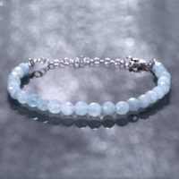 Natural Aquamarine Bracelet *beaded Bracelet* Aquamarine Beads Bracelet, Birthday Gift For Her *women's Day Special* | Natural genuine Gemstone jewelry. Buy crystal jewelry, handmade handcrafted artisan jewelry for women.  Unique handmade gift ideas. #jewelry #beadedjewelry #beadedjewelry #gift #shopping #handmadejewelry #fashion #style #product #jewelry #affiliate #ad