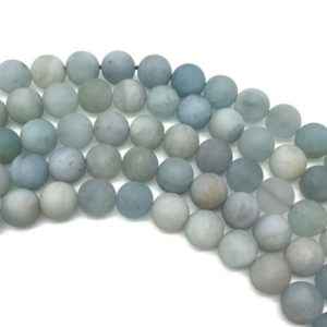 Shop Aquamarine Round Beads! 8mm Matte Aquamarine Beads, Round Gemstone Beads, Wholesale Beads | Natural genuine round Aquamarine beads for beading and jewelry making.  #jewelry #beads #beadedjewelry #diyjewelry #jewelrymaking #beadstore #beading #affiliate #ad