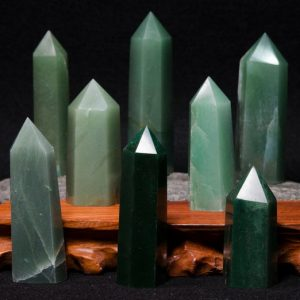 Best Natural Green Aventurine Crystal Points/Aventurine Tower/Aventurine Point/Healing Crystal/Gift for Mom/Gift for Her-1 point | Natural genuine stones & crystals in various shapes & sizes. Buy raw cut, tumbled, or polished gemstones for making jewelry or crystal healing energy vibration raising reiki stones. #crystals #gemstones #crystalhealing #crystalsandgemstones #energyhealing #affiliate #ad