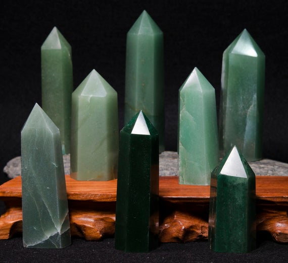 Best Natural Green Aventurine Crystal Points/aventurine Tower/aventurine Point/healing Crystal/gift For Mom/gift For Her-1 Point