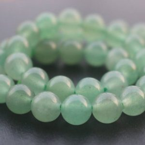 Green Aventurine Gemstone Beads, 4mm / 6mm / 8mm / 10mm / 12mm Natural Smooth And Round Stone Beads, 15 Inches One Starand | Natural genuine round Aventurine beads for beading and jewelry making.  #jewelry #beads #beadedjewelry #diyjewelry #jewelrymaking #beadstore #beading #affiliate #ad