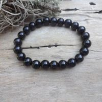 Black Jet Stone / petrified Wood / Lignite / Gagat / black Amber Protection Stretch Bracelet Healing Bracelets Men Gift Under 25 Dollars | Natural genuine Gemstone jewelry. Buy crystal jewelry, handmade handcrafted artisan jewelry for women.  Unique handmade gift ideas. #jewelry #beadedjewelry #beadedjewelry #gift #shopping #handmadejewelry #fashion #style #product #jewelry #affiliate #ad