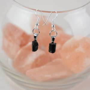 Shop Black Tourmaline Earrings! Black Tourmaline Drop Earrings | Natural genuine Black Tourmaline earrings. Buy crystal jewelry, handmade handcrafted artisan jewelry for women.  Unique handmade gift ideas. #jewelry #beadedearrings #beadedjewelry #gift #shopping #handmadejewelry #fashion #style #product #earrings #affiliate #ad