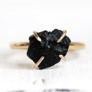 Shop Black Tourmaline Rings! Black Tourmaline Ring – Black Crystal Ring – November Birthstone Jewelry – Gold Filled Ring | Natural genuine Black Tourmaline rings, simple unique handcrafted gemstone rings. #rings #jewelry #shopping #gift #handmade #fashion #style #affiliate #ad