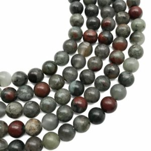 Shop Bloodstone Beads! 10mm Africa Bloodstone Beads, Round Gemstone Beads, Wholesale Beads | Natural genuine round Bloodstone beads for beading and jewelry making.  #jewelry #beads #beadedjewelry #diyjewelry #jewelrymaking #beadstore #beading #affiliate #ad