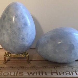 Shop Calcite Shapes! Blue Calcite Large Gemstone Egg, Relaxing stone, Healing Stone, Healing Crystal, Chakra Stone, Spiritual Stone, Meditation | Natural genuine stones & crystals in various shapes & sizes. Buy raw cut, tumbled, or polished gemstones for making jewelry or crystal healing energy vibration raising reiki stones. #crystals #gemstones #crystalhealing #crystalsandgemstones #energyhealing #affiliate #ad