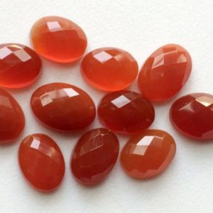 Shop Carnelian Cabochons! 12mm – 18mm Carnelian Orange Chalcedony Rose Cut Cabochons, 5 pcs Orange Flat Back Oval Cabochon Rose Cut Gemstones, Orange Gems – GODP1020 | Natural genuine stones & crystals in various shapes & sizes. Buy raw cut, tumbled, or polished gemstones for making jewelry or crystal healing energy vibration raising reiki stones. #crystals #gemstones #crystalhealing #crystalsandgemstones #energyhealing #affiliate #ad