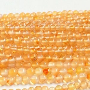 Shop Carnelian Rondelle Beads! 2.5mm Carnelian Plain Rondelle, Orange Carnelian Plain Round Beads, Carnelian Gemstone, 13IN Carnelian Ball For Jewelry (1ST To 10ST Option) | Natural genuine rondelle Carnelian beads for beading and jewelry making.  #jewelry #beads #beadedjewelry #diyjewelry #jewelrymaking #beadstore #beading #affiliate #ad