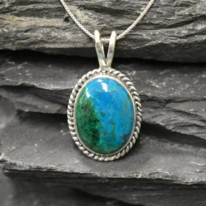 Shop Chrysocolla Pendants! Statement Pendant, Chrysocolla Pendant, Blue Chrysocolla, Sagittarius Pendant, Unique Pendant, Blue Pendant, Silver Pendant, Chrysocolla | Natural genuine Chrysocolla pendants. Buy crystal jewelry, handmade handcrafted artisan jewelry for women.  Unique handmade gift ideas. #jewelry #beadedpendants #beadedjewelry #gift #shopping #handmadejewelry #fashion #style #product #pendants #affiliate #ad