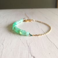 Chrysoprase Bracelet Faceted 14k Gold Filled Gemstone Bracelet | Natural genuine Gemstone jewelry. Buy crystal jewelry, handmade handcrafted artisan jewelry for women.  Unique handmade gift ideas. #jewelry #beadedjewelry #beadedjewelry #gift #shopping #handmadejewelry #fashion #style #product #jewelry #affiliate #ad