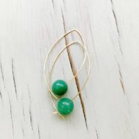Chrysoprase Earrings Chrysoprase Hoops Chrysoprase Jewelry Gemstone Jewelry | Natural genuine Gemstone jewelry. Buy crystal jewelry, handmade handcrafted artisan jewelry for women.  Unique handmade gift ideas. #jewelry #beadedjewelry #beadedjewelry #gift #shopping #handmadejewelry #fashion #style #product #jewelry #affiliate #ad