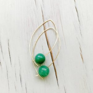 Chrysoprase Earrings Chrysoprase Hoops Chrysoprase Jewelry Gemstone Jewelry | Natural genuine Chrysoprase earrings. Buy crystal jewelry, handmade handcrafted artisan jewelry for women.  Unique handmade gift ideas. #jewelry #beadedearrings #beadedjewelry #gift #shopping #handmadejewelry #fashion #style #product #earrings #affiliate #ad