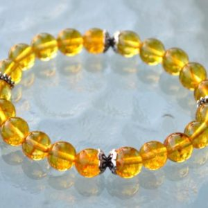 Energized Citrine Beaded Bracelet Sterling Silver citrine bracelet natural AAA citrine untreated unheated healing bracelet raw citrine stone | Natural genuine Gemstone bracelets. Buy crystal jewelry, handmade handcrafted artisan jewelry for women.  Unique handmade gift ideas. #jewelry #beadedbracelets #beadedjewelry #gift #shopping #handmadejewelry #fashion #style #product #bracelets #affiliate #ad