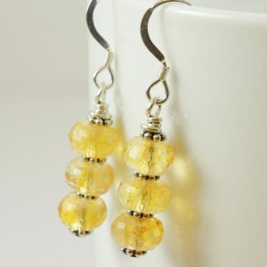 Shop Citrine Earrings! Citrine Drop Earrings, Citrine Dangle Earrings, Handmade Gemstone Jewelry | Natural genuine Citrine earrings. Buy crystal jewelry, handmade handcrafted artisan jewelry for women.  Unique handmade gift ideas. #jewelry #beadedearrings #beadedjewelry #gift #shopping #handmadejewelry #fashion #style #product #earrings #affiliate #ad