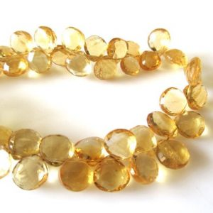 Shop Citrine Bead Shapes! Citrine Faceted Heart Beads, Natural Yellow Citrine Heart Briolettes, 4-6mm/7mm/8mm/9-11mm Citrine Heart Beads, Citrine Beads loose, GDS1169 | Natural genuine other-shape Citrine beads for beading and jewelry making.  #jewelry #beads #beadedjewelry #diyjewelry #jewelrymaking #beadstore #beading #affiliate #ad