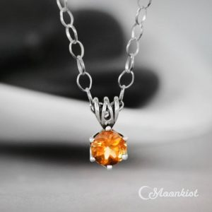 Shop Citrine Pendants! Sterling Silver Citrine Pendant Necklace, Citrine Necklace, Citrine Solitaire Necklace, November Birthstone | Natural genuine Citrine pendants. Buy crystal jewelry, handmade handcrafted artisan jewelry for women.  Unique handmade gift ideas. #jewelry #beadedpendants #beadedjewelry #gift #shopping #handmadejewelry #fashion #style #product #pendants #affiliate #ad