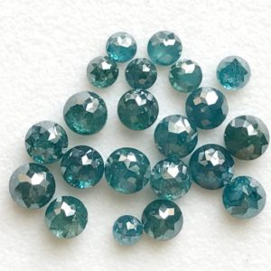 Shop Diamond Chip & Nugget Beads! 3.5mm Blue Rose Cut Diamond, 1 Pc Blue Tamboli Rough Diamond, Loose Blue Raw Diamond, Faceted Diamond Cabochon – DDP4 | Natural genuine chip Diamond beads for beading and jewelry making.  #jewelry #beads #beadedjewelry #diyjewelry #jewelrymaking #beadstore #beading #affiliate #ad