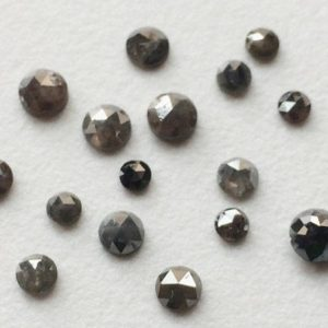Shop Diamond Chip & Nugget Beads! 3mm Calibrated Rose Cut Diamond, 5 pcs Grey Diamond, Grey Rose Cut Natural Diamond, Grey Rough Diamond, Grey Raw Diamond, Diamond For Ring | Natural genuine chip Diamond beads for beading and jewelry making.  #jewelry #beads #beadedjewelry #diyjewelry #jewelrymaking #beadstore #beading #affiliate #ad