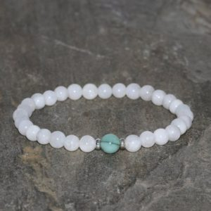 Shop Emerald Bracelets! Moonstone Beaded Bracelet 5mm Natural Rainbow Moonstone 6mm Emerald Wrist Mala Beads Sterling Silver 925 Womens Beaded Bracelet | Natural genuine Emerald bracelets. Buy crystal jewelry, handmade handcrafted artisan jewelry for women.  Unique handmade gift ideas. #jewelry #beadedbracelets #beadedjewelry #gift #shopping #handmadejewelry #fashion #style #product #bracelets #affiliate #ad